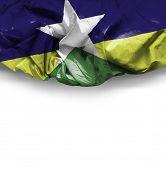 Rondonia, Brazil waving flag on white background