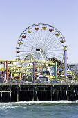 The amusement park on the Santa Monica Pier in Santa Monica, California