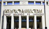SAO PAULO, BRAZIL - CIRCA SEPTEMBER 2014: Pacaembu Municipal Stadium in Sao Paulo, Brazil.
