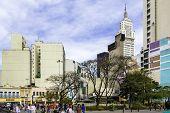 SAO PAULO, BRAZIL - CIRCA AUG 2013: The downtown of Sao Paulo city in Brazil.