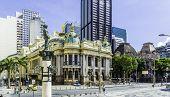 RIO DE JANEIRO, BRAZIL - CIRCA NOVEMBER 2013: Opera House (Teatro Municipal) in Rio de Janeiro, Brazil - Latin America