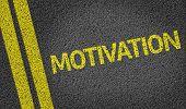 Motivation written on the road
