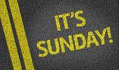It's Sunday written on the road