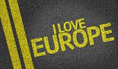 I Love Europe written on the road