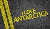 I Love Antarctica written on the road