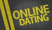 Online Dating written on the road