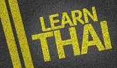 Learn Thai written on the road