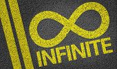 Infinite written on the road