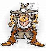 Western Cowboy Bandit mit gun