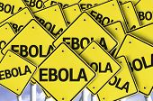 Ebola written on multiple road sign