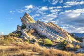 View Of Vasquez Rocks In Late Afternoon