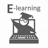 E-learning education icon