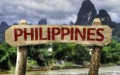 stock photo of cebu  - Philippines wooden sign with a rural background - JPG
