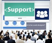 Business People Support Web Design Concept