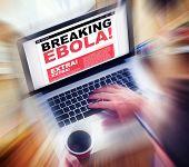 Digital Online Breaking News Headline Ebola Concept