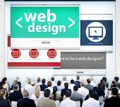 Web Design Website Presentation Graphic Meeting Concept