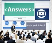 Business People Presentation Seminar Answers Concept