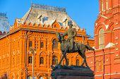 Zhukov Memorial Statue In Moscow, Russia