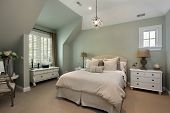 Guest bedroom in luxury suburban home