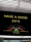 Tourist info signage in airport, have a good 2015