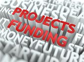 Projects Funding - Wordcloud Concept.