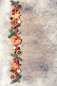 foto of christmas spices  - Christmas background with cookies - JPG