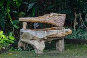 picture of bench  - wooden bench object - JPG