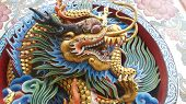 pic of swagger  - Dragon swagger a carved wooden dragon - JPG