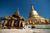 Important Large Golden Pagoda In Bago City,Myanmar .