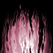 stock photo of potassium  - Flaming violet fire on a black background  - JPG