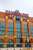 Entrance To Lucas Oil Stadium In Indianapolis