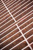 Rust steel grating of Drain cover