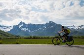 Mountain bike cyclist, Norway