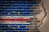 Dark Brick Wall With Plaster - Cape Verde
