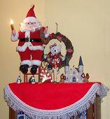 Santa on stool