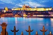 Moldau River, Lesser Town, Prague Castle, Prague (unesco), Czech Republic