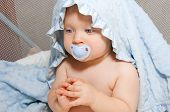 Baby Boy With Soother