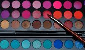 foto of makeup artist  - this is a makeup of makeup artist that i borrow for this close up shot - JPG