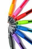 Assortment of colored ball-pen
