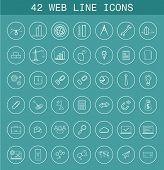 42 Web Line Icons