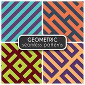 Geometric seamless vector patterns