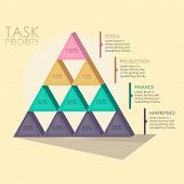 pic of hierarchy  - Pyramid hierarchy to show levels or steps in your business - JPG