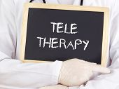Doctor Shows Information: Teletherapy