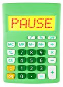 Calculator With Pause On Display Isolated