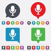 Microphone icon. Speaker symbol. Live music sign