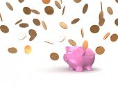 coins and piggy