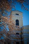 foto of winter palace  - Verkiu palace and park in Vilnius in winter - JPG