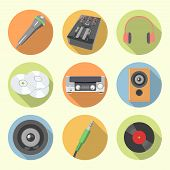 Audio Equipment Icon Set