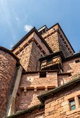 Tower Of Haut-koenigsbourg Castle In Alsace, France