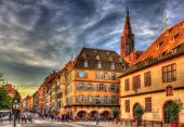 Street In Strasbourg City Center - Alsace, France